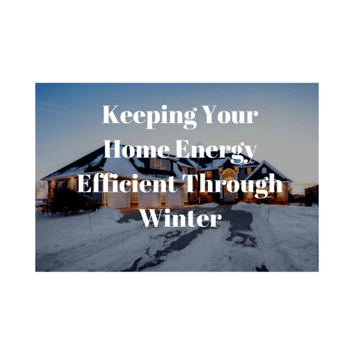 Energy Efficiency in Winter